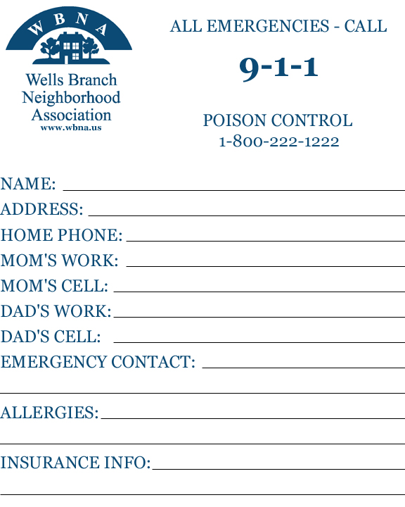 Safety Tips for Kids : WBNA : Wells Branch Neighborhood Association