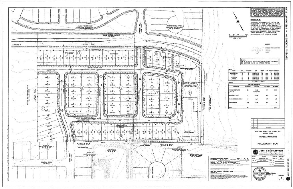 Travesia Subdivision ORIGINAL Plan